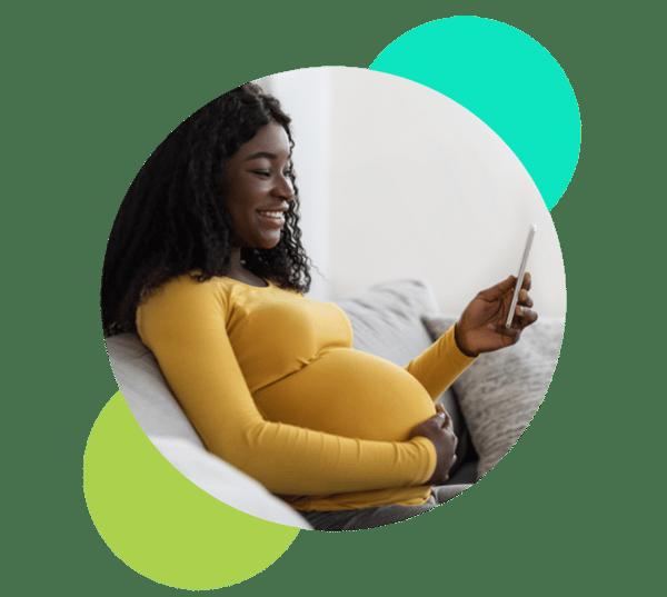 Babyscripts Pregnant Mom on Maternity Care App