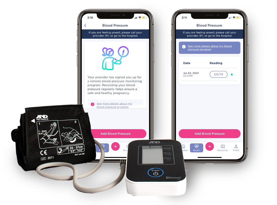 Babyscripts PRegnancy App with Blood Pressure Monitoring