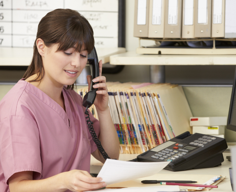Nurse case manager on the phone